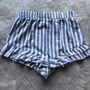 Pants - Blue & white striped shorts!